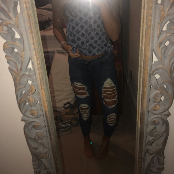Boom Boom Jeans Denim - ripped jeans!